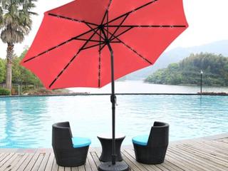 Red Solar Castaway Patio Umbrella NO Base