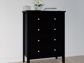 Adeptus Black Solid Wood Easy Pieces 4 drawer Chest of Drawers  Retail 143 49