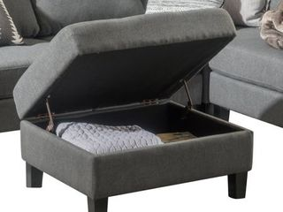 Zahra Tufted Fabric Storage Ottoman by Christopher Knight Home  Retail 153 49