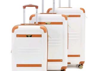19V69 Italia Vintage Hard Expandable Spinner luggage Set  3 Piece  Retail 188 49