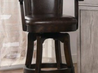 Copper Grove Petani Swiveling Bar Stool with Armrests  Retail 356 99