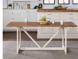The Gray Barn 72 inch Solid Wood Trestle Dining Table  Retail 389 49
