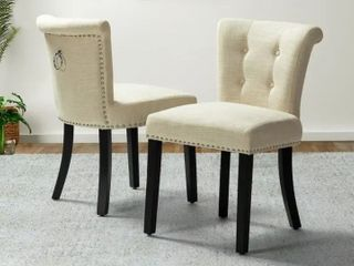 Berta Tufted Upholstered Side Chair set of 2  Retail 194 49