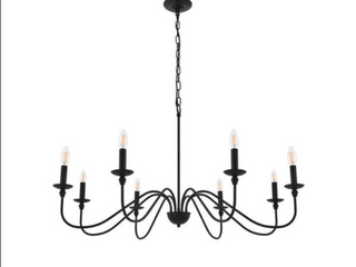 Rohan 8 light Matte Black Pendant  Retail 207 00