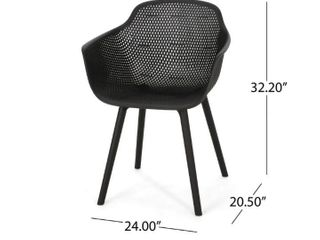 lotus Outdoor Modern Dining Chair  Set of 2  by Christopher Knight Home   Retail 151 49