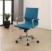 Samuel Silver Finish Adjustable leather Office Chair by Abbyson  Retail 162 99