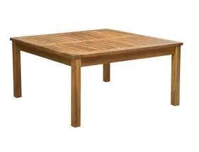 Perla Outdoor Acacia Wood Square Coffee Table