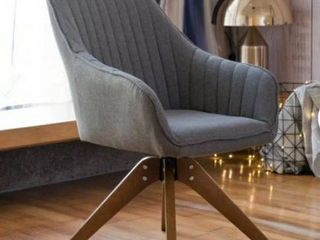 Modern Home Office Swivel Arm Accent Chair