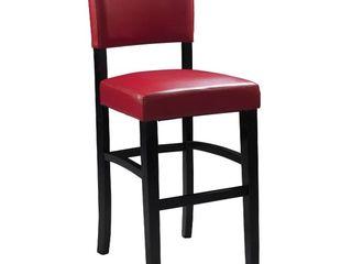 linon Monaco Bar Stool  30 inch Seat Height  Ox Blood