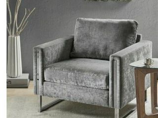 Silver Orchid Dumbrille Grey lounge Chair  Retail 387 99