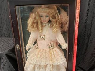 Doll With Wooden Glass Case