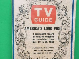 Vintage TV Guide Including JFK Assassination Coverage