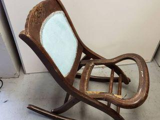 Folding Antique Rocking Chair