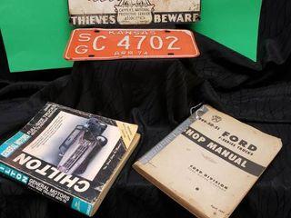 Vintage Sign  Tag   Manuals