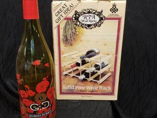 Wine Bottle Decor   Solid Pine Wine Rack