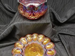 Iridescent Glass Containers