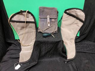 Ammo Pouch  Wooden Handle Knife   2 Pistol Pouches