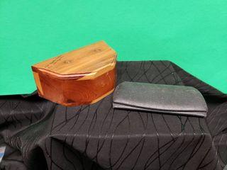 Antique leather Eyeglass Case   Cedar Box