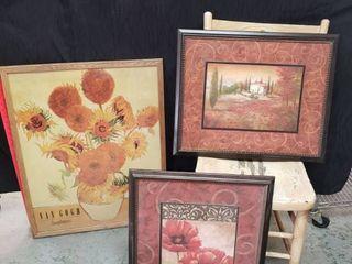 Framed Art lot  Including Van Gogh