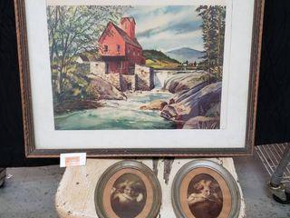 Vintage Framed Prints lot