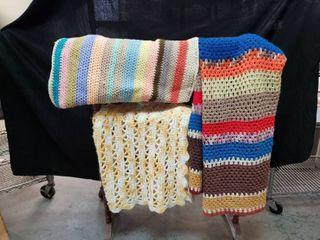 Crocheted Afghan lot