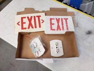 Exit Sign lot
