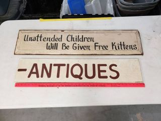 Wooden Signs lot