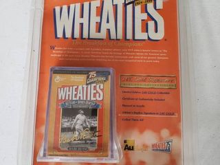 Wheaties 75 Years of Champions 1992   24 Carrot Gold Signature Mini Box Collectable   Signature of Authenticity   Featuring Babe Ruth