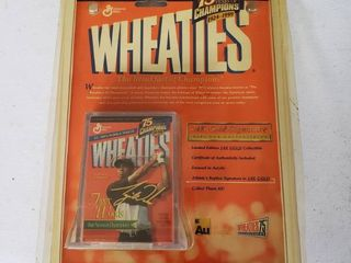 Wheaties 75 Years of Champions 1998   24 Carrot Gold Signature Mini Box Collectable   Signature of Authenticity   Featuring Tiger Woods