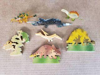Dinosaur Puzzle and Figurine Set