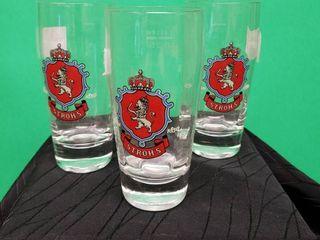Stroh s Beer Glasses Set of 3