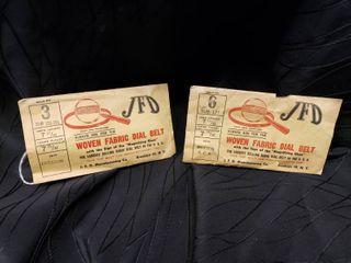 Vintage JFD Woven Radio Dial Belt lot