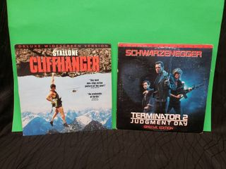 laser Discs Terminator   Cliffhanger