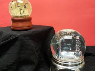 2 Musical Snow Globes Tested