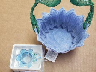 Cardboard Flower Bowl   Dragonfly Candle Holder