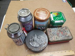 Tin Containers  Set of 5