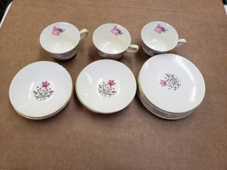 Cup  Saucer   Plate Set of 14