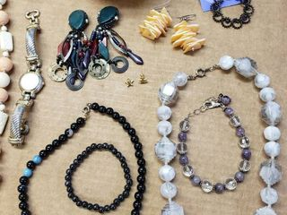 lot Of Jewelry With Holder