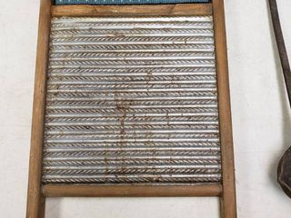 Washboard and Vintage Camping ladle