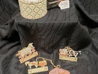 Vintage Sifter   Set of Ornaments