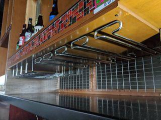 (2) Bar Glass Hangers