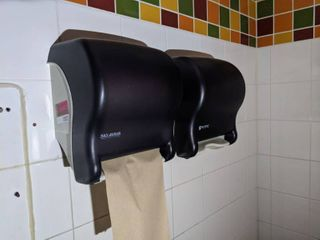 Two San Jamar Paper Towel Dispensers  One Eco lab Soap Dispenser