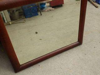 John Wanamaker oak vanity mirror 35 in wide 30 in tall