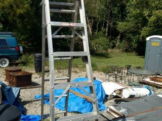 8 foot step ladder extension ladder 2 ladders in 1