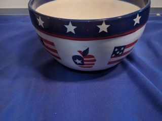 4th of July serving bowl