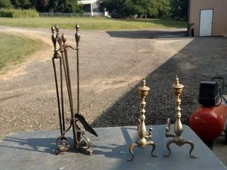 fireplace tools and fireplace end irons