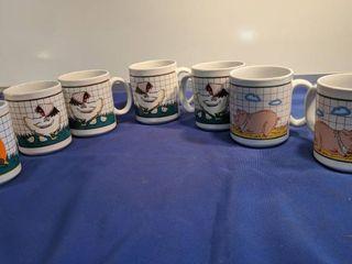 farm animals coffee cups l