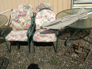 patio table 4 chairs with cushions umbrella and umbrella stand