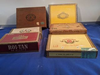 six cigar boxes