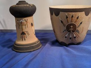 Indian vase and other piece